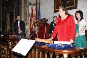 La alcaldesa de Valencia durante su toma de posesión en el año 2011 / RITABARBERA.COM