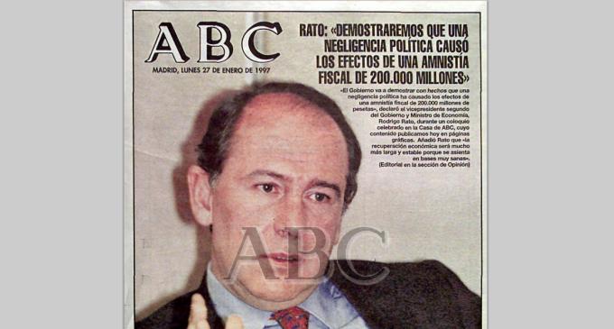 """Cuando Rato consideró un """"escándalo"""" la amnistía fiscal del PSOE"""