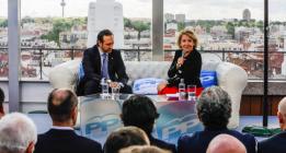Esperanza Aguirre propone 'limpiar' el centro de Madrid de personas sin hogar