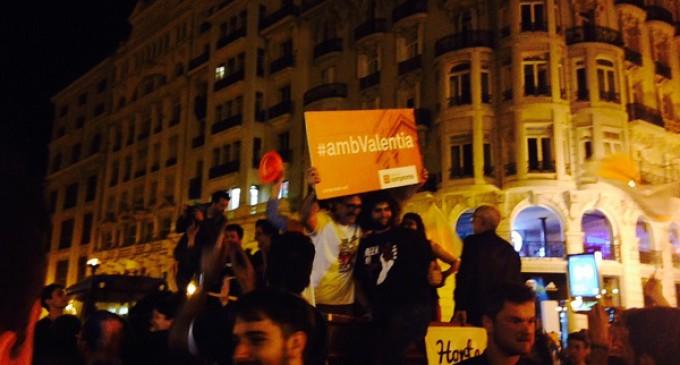 Euforia en Valencia tras la derrota de Rita Barberá