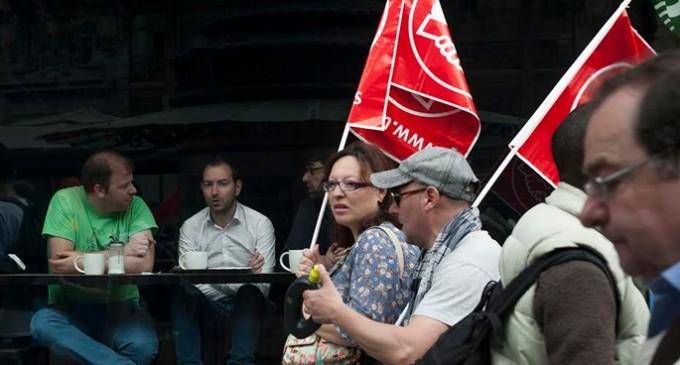 Un primero de mayo dividido y con poca participación