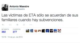 Un ejercicio sobre las víctimas de ETA, Twitter y el contexto
