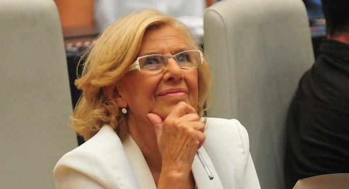 Manuela Carmena durante el pleno de investidura.