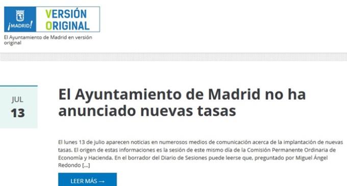 Ahora Madrid y PSOE acuerdan seguir adelante con Versión Original
