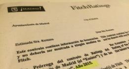 Así son los contratos que firmaba el Ayuntamiento de Madrid con Fitch y Standard and Poor´s