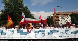 Cientos de ganaderos llegan a Madrid para exigir un precio mínimo para la leche