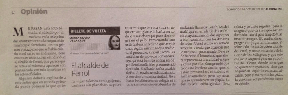 Artículo de Marta Rivera De La Cruz