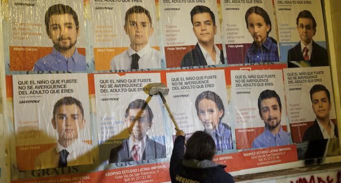 Greenpeace convierte a los políticos en niños