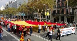La extrema derecha desfila un año más por Barcelona