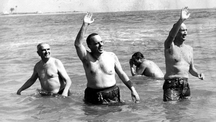 Manuel Fraga en Palomares.