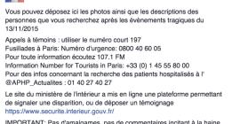 La búsqueda de familiares y amistades tras el atentado de París se traslada a Internet