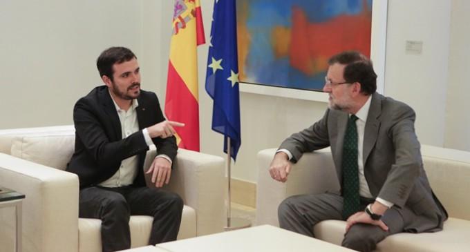 Garzón propone a Rajoy un referéndum en Cataluña