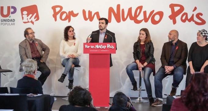 """IU-Unidad Popular presenta su decálogo """"por un nuevo país"""""""