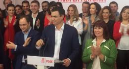 PSOE: Del luto al champán en tres horas
