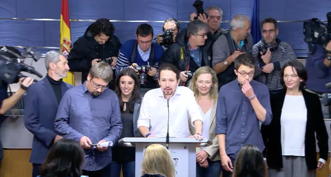 Pablo Iglesias anuncia que quiere formar gobierno con el PSOE e IU