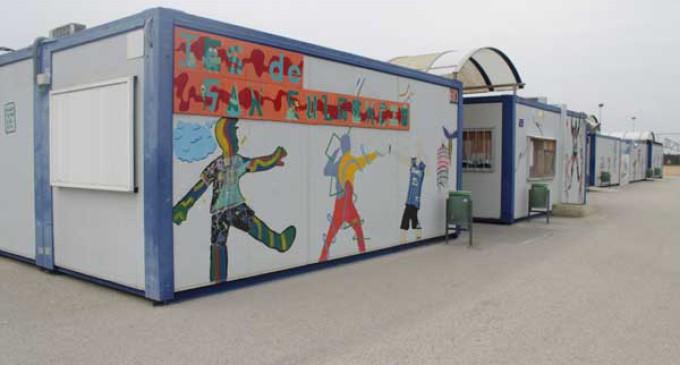 Radiograf a de los barracones escolares for Kiosco bar prefabricado