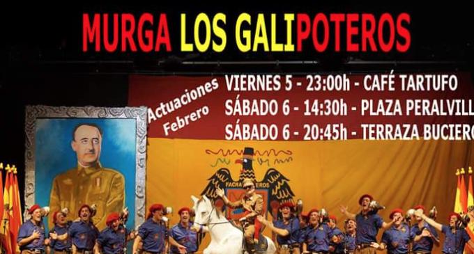 Niños cantando 'El cara al sol' en el Carnaval de Santoña