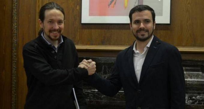 Pablo Iglesias y Alberto Garzón piden un gobierno de izquierdas