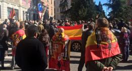 Acto fascista contra Manuela Carmena