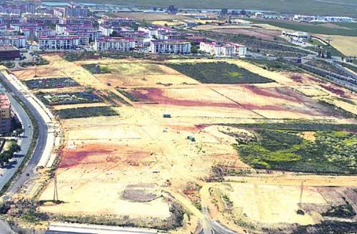 Zona afectada en el yacimiento onubense.