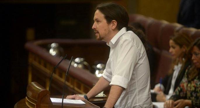 Pablo Iglesias ha hablado por primera vez desde la tribuna de oradores del Congreso de los Diputados. PODEMOS
