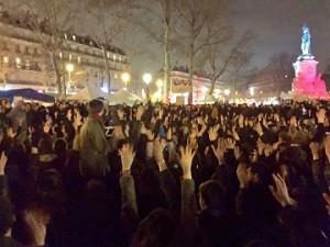 Concentración en la Place de la Republique de París el sábado 3 de abril. J.B.