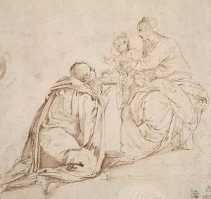 Estudio para una 'Adoración de los reyes', de Battista Franco / National Gallery of Victoria