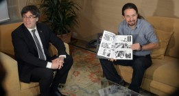"Iglesias, a Puigdemont: Los cambios en España ""permiten imaginar un futuro distinto"""