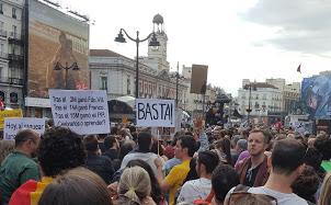 Concentración en Puerta del Sol con motivo del 5º aniversario del 15-M. FOTO: L.B.