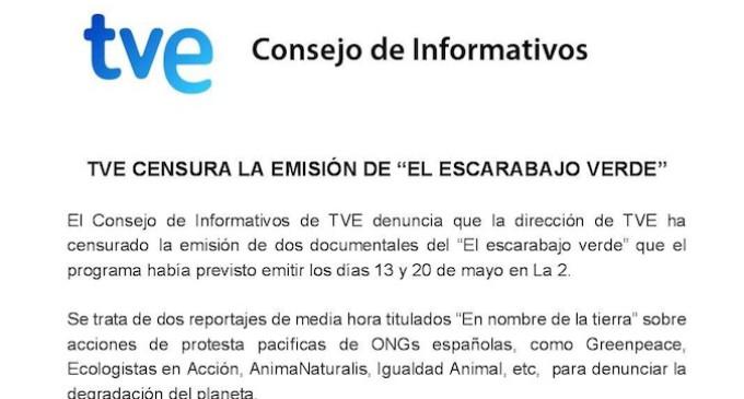 El Consejo de Informativos de TVE denuncia censura a los ecologistas
