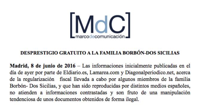 """Los Borbón que figuran en 'Los Papeles de la Castellana' admiten la amnistía y se quejan de un """"desprestigio gratuito"""""""