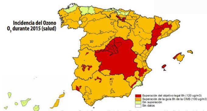Casi toda la población española respira aire contaminado