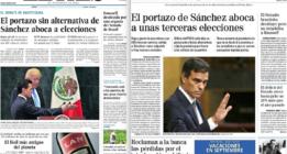 Los grandes medios coinciden: Pedro Sánchez culpable, Rajoy inocente