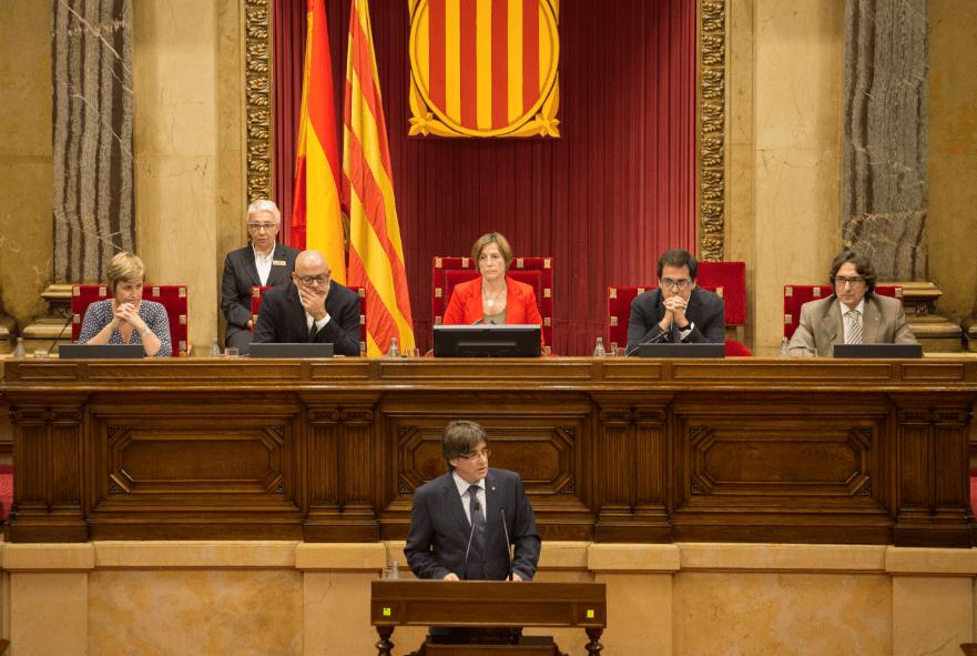 Carles Puigdemont, en el Parlament | La Marea