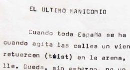 [Exclusiva] Texto inédito de Panero: 'El último manicomio'
