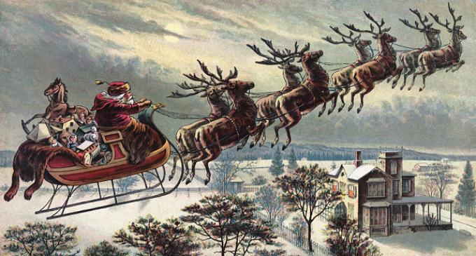 El origen de los renos voladores