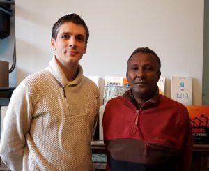 Grégoire Lalieu (izquierda) y Mohamed Hassan, autores de Yihad made in USA.