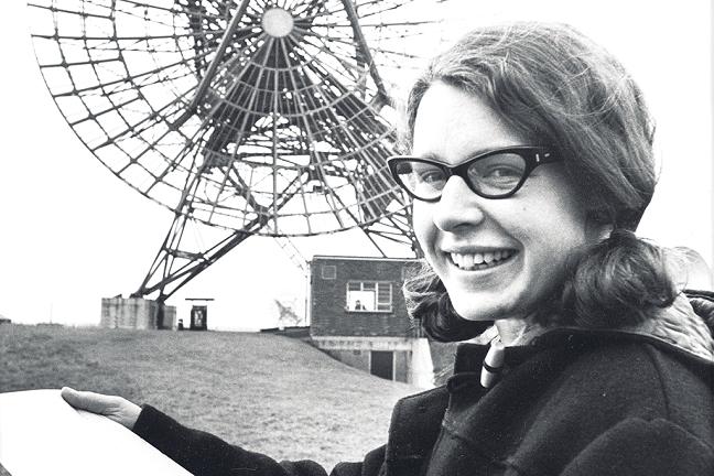 La astrofísica Jocelyn Bell, en sus tiempos de estudiante.