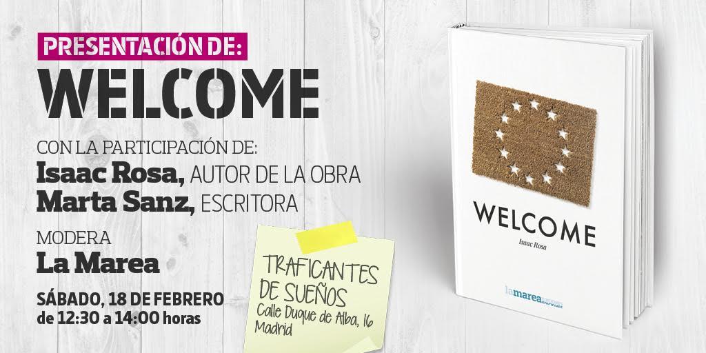 Presentación del libro Welcome de Isaac Rosa