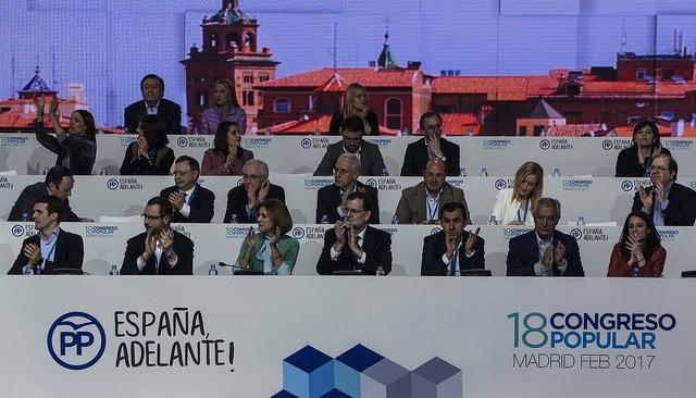 Algunos de los principales líderes del Partido Popular durante el 18º congreso de esta formación. Foto: PP