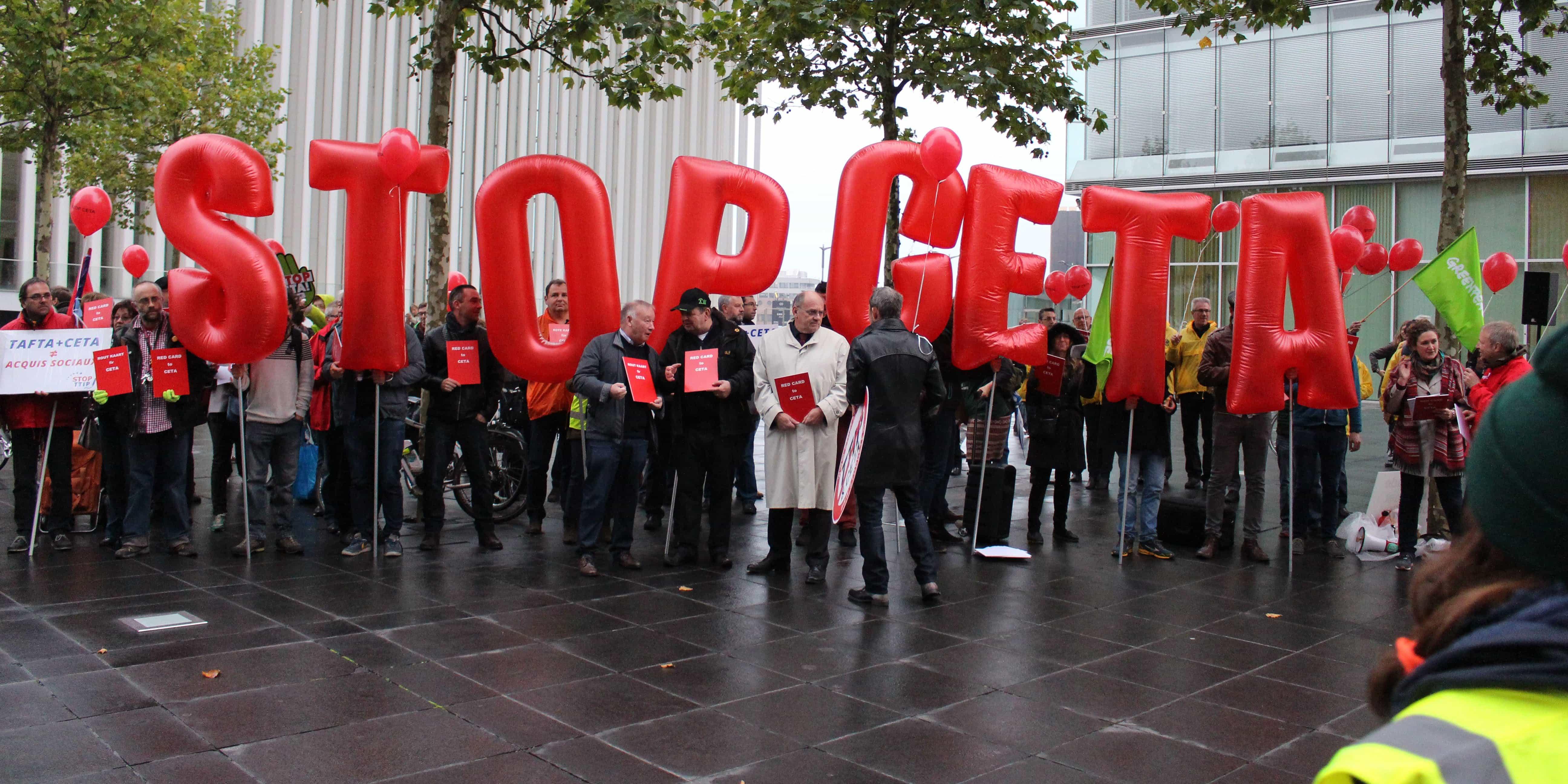 Movilización contra la ratificación del CETA.