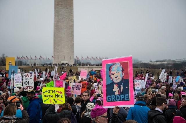 marcha mujeres Trump