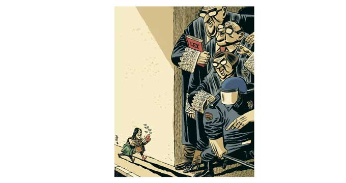 Portada sobre el deterioro de la libertad de expresión, por MANEL FONTDEVILA