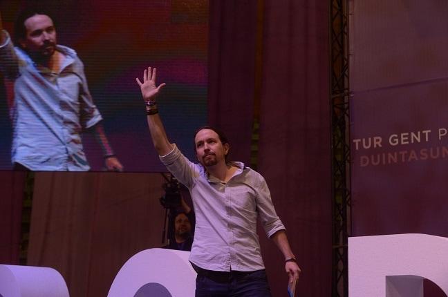 Pablo Iglesias, reelegido secretario general de Podemos en Vistalegre II. Foto: PODEMOS