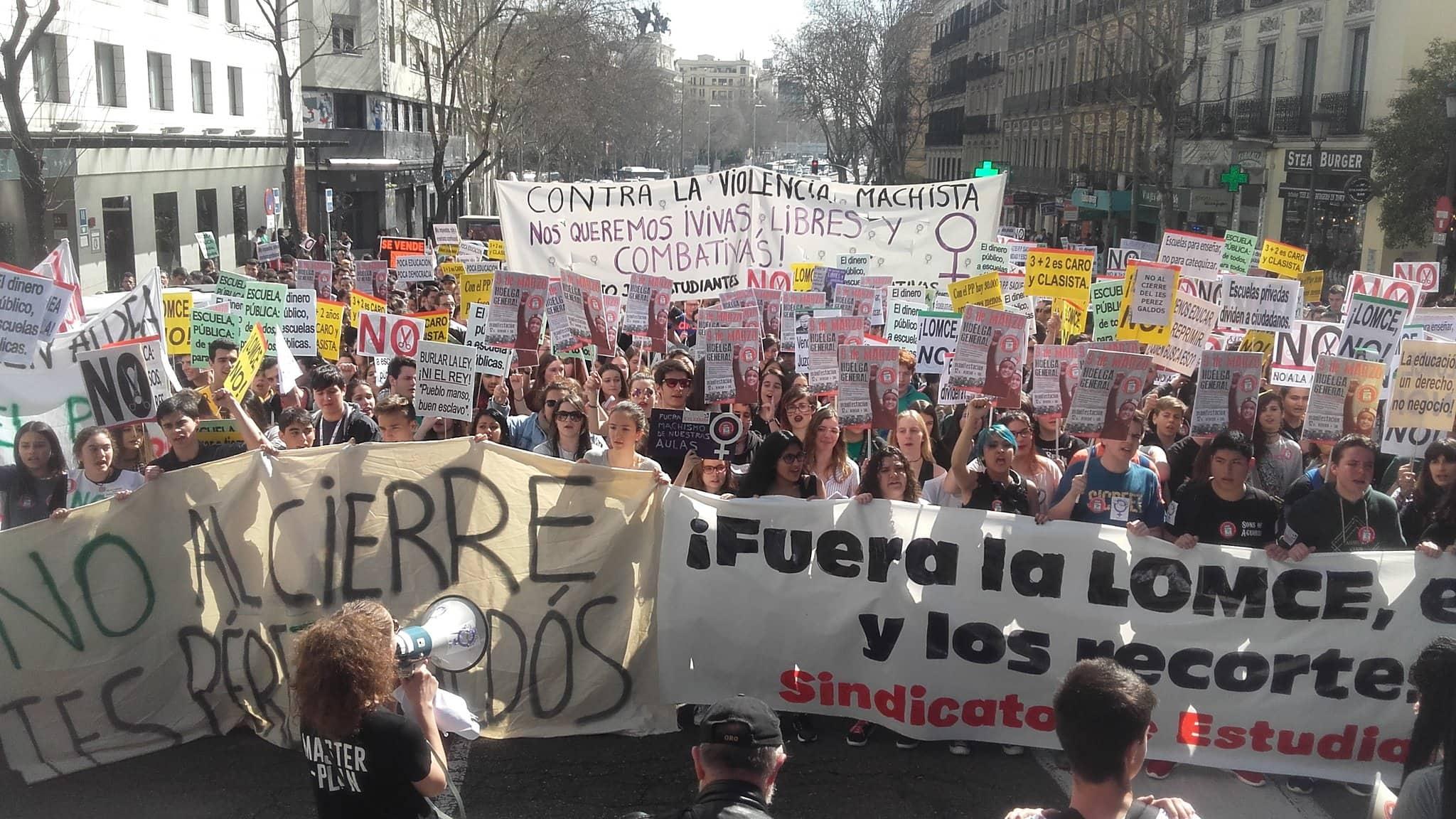 Manifestación de estudiantes I LA MAREA