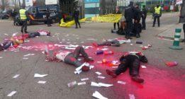 Una protesta acaba con 20 activistas en comisaría