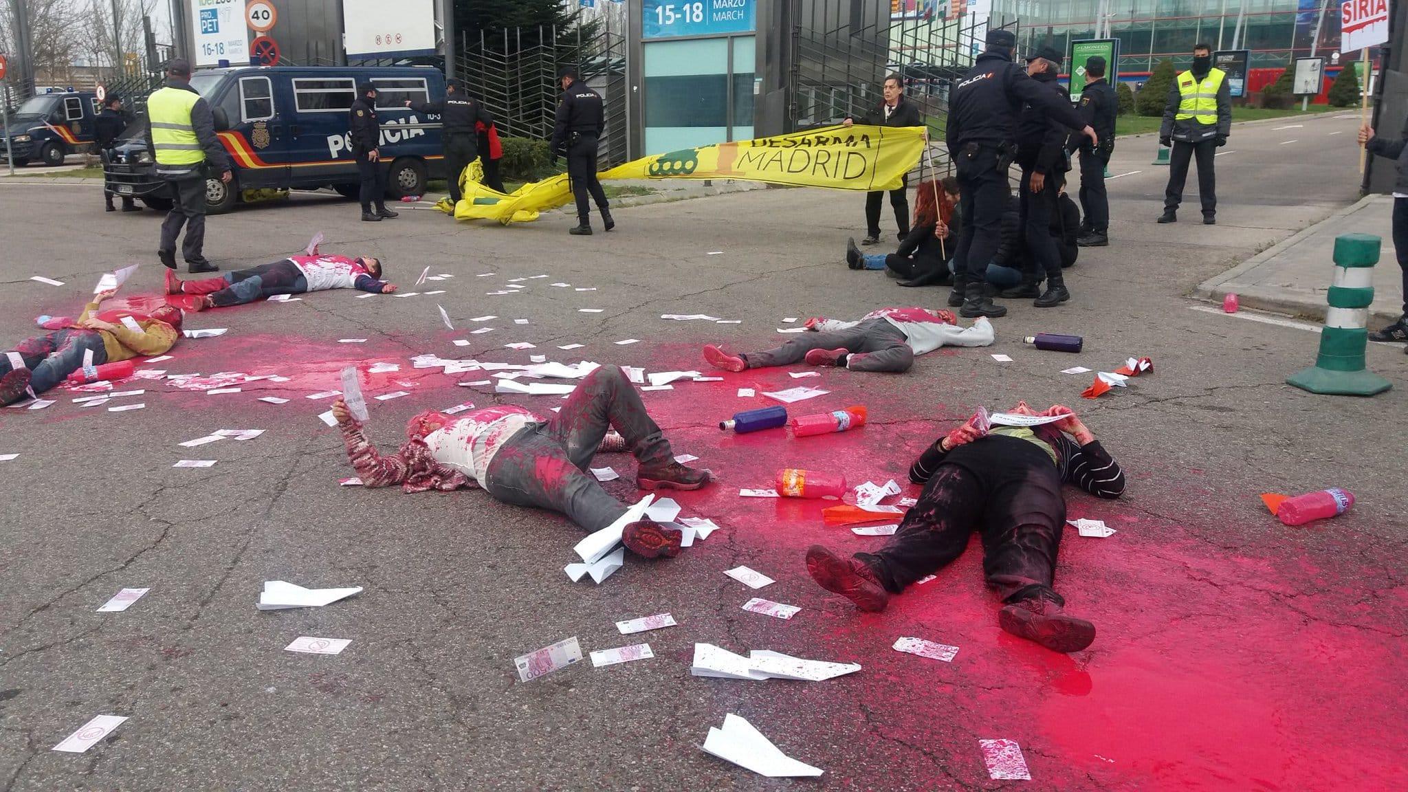 Protesta del colectivo Desarma Madrid. I La Marea