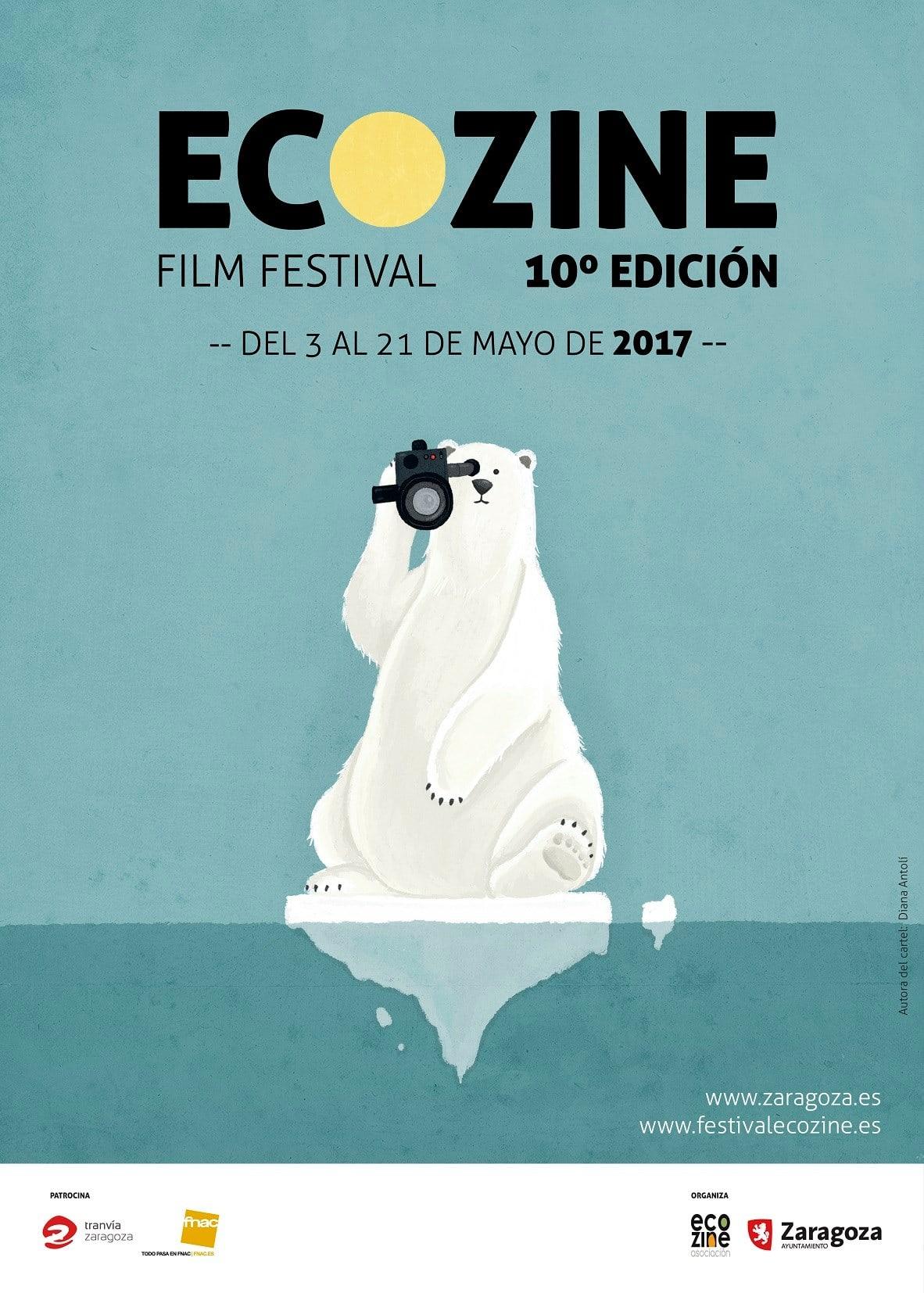 El cartel de la 10ª edición del Festival Ecozine ha sido diseñado por la artista Diana Antolí.