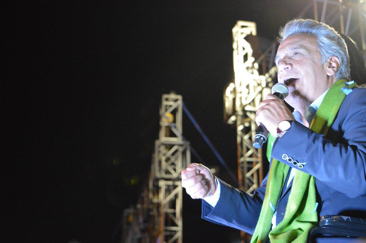 El candidato Lenín Moreno I La Marea