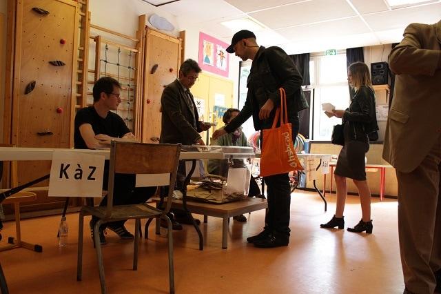 Primera vuelta de las elecciones presidenciales en Francia, celebradas el 23 de abril de 2017. MIGUEL EGEA